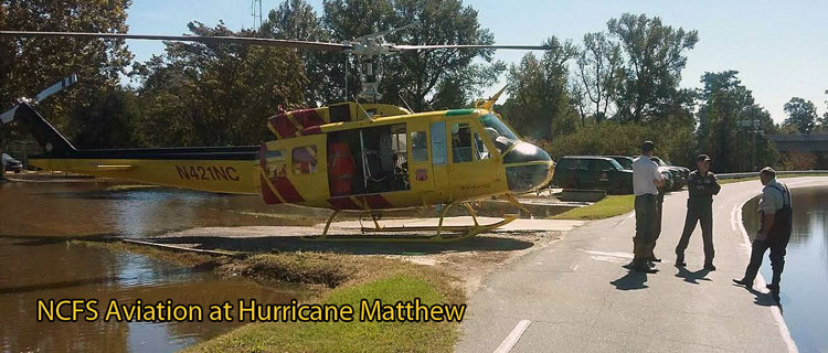 NCFS Aviation at Hurricane Matthew Relief