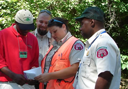 High school student shadowing NCDFR foresters and technicians