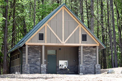 Photo new restrooms at Hooker Falls in Dupont State Recreational Forest